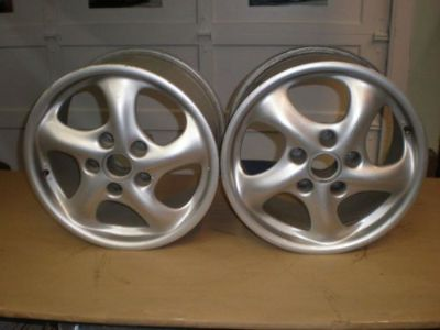 "Find PORSCHE 911 CARRERA/996 BOXSTER ~ PAIR OF OEM 17""x9"" ALLOY TURBO TWIST WHEELS motorcycle in Fort Lauderdale, Florida, United States, for US $350.00"