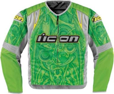 Purchase Icon Overlord Sportbike SB1 Mesh Jacket Green Small NEW motorcycle in Elkhart, Indiana, US, for US $225.00