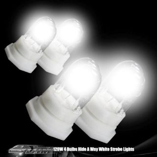 Sell White 4 Bulb 120 Watt HID Hide A Way Emergency Warning Strobe Light Set motorcycle in Rowland Heights, California, United States