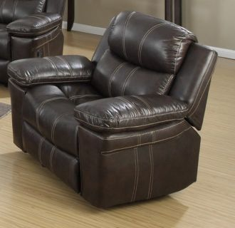 Brown Leather Swival Rocker Recliner