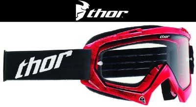 Sell Thor Youth Enemy Tread Red Black Dirt Bike Goggles Motocross MX ATV 2014 motorcycle in Ashton, Illinois, US, for US $29.95