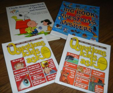 4 Questions & Answers Kids Ask Books Big Book of Lot Charlie Brown