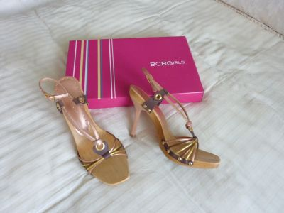 BCB Girls High Heeled Sandals Natural Colors