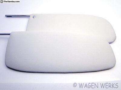 Bug Sun Visor - 1958 to 1964 - off-white - Pair