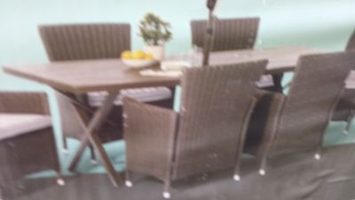 Large Steel Dining Table New in Box
