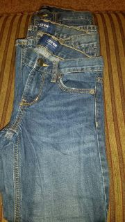 SET OF 3 PAIR OF JEANS BOYS SIZE 7. OLD NAVY STRAIGHT LEG. PERFECT CONDITION