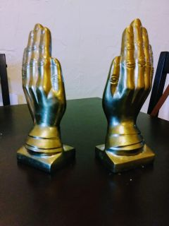 Solid Brass Praying Bookends