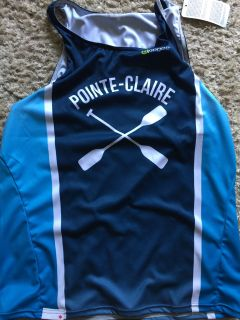 Canoe Kayak Pointe Claire racing singlet adult or youth