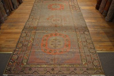 Antique Khotan Rug / Vintage Oriental Rug / Dec...
