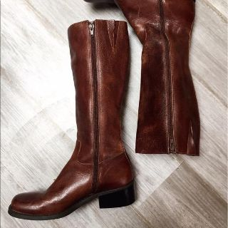 NICOLE BRN LTHER RIDING BOOTS