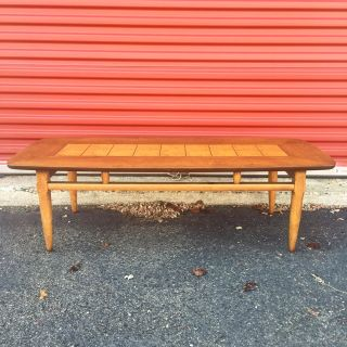 Mid Century Burlwood Coffee Table by Lane