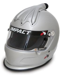 Sell IMPACT RACING 17099608 SUPER CHARGER HELMET X-LARGE SILVER SA2010 motorcycle in Moline, Illinois, US, for US $539.99