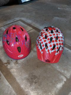 Toddler and small girls bike helmets