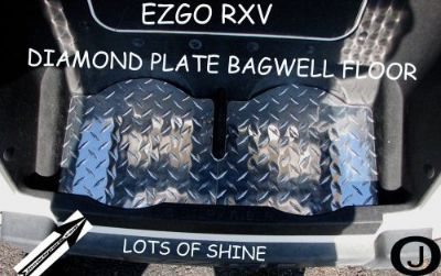 Purchase Ezgo RXV Golf Cart Diamond Plate Bag Well floor motorcycle in Elmwood Park, Illinois, United States, for US $17.95