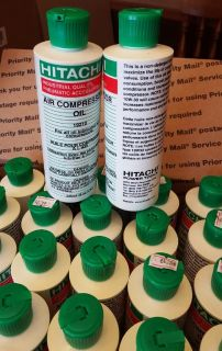 Hitachi air compressor oil 5 bottles