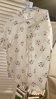 Star wars storm troopers button down dress shirt size 7/8. $3