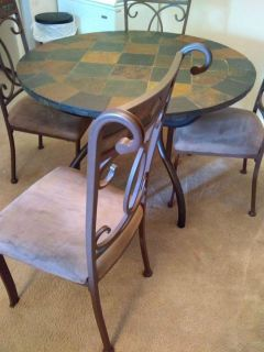 Slate Table and 4 Chairs