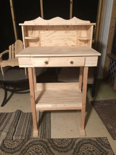 NEW HANDMADE WOOD COFFEE BAR WITH HOOKS TO HANG COFFEE CUPS AND DRAWER YOU CAN PAINT OR STAIN IT YOUR CHOICE PICK UP WEST MOBILE DAWES RD