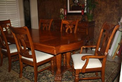 $1,200, Dining Table, 6 Chairs and Server