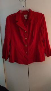 """""""JT Collections"""" size 22wp. Red jacket. smoke free home. Can meet in Reidsville or Burlington area. Message for more details."""