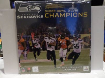 SEATTLE SEAHAWKS Super Bowl XLVIII Champions Calendar *** NEW ***