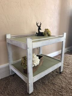 Refinished Distressed Side Table