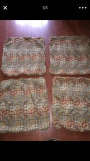 4 pillow covers with Zippers euc