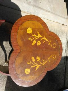 Antique French inlaid table