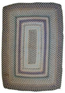 Handmade vintage American braided rug, 1C414