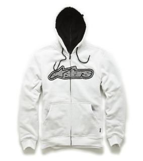 Sell Alpinestars Quest White Hoody Hooded Sweater Hoodie Zip Up motorcycle in Ashton, Illinois, US, for US $67.50