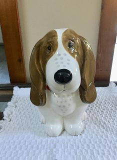 Cute Basset Hound Cookie Jar XP