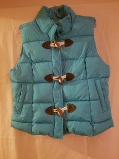 Turquoise puffy vest