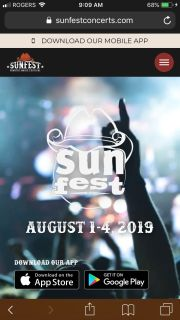 Pair of sunfest tickets - Reserved seating and includes parking