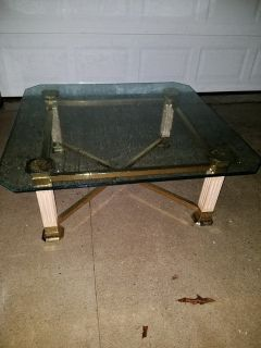 Ashley / Beveled Glass Square Coffee Table