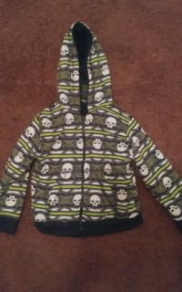 Boys size 5t zipper hoodie with skull design from mist mask