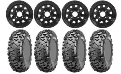Sell Kit 4 CST Stag Tires 26x9-12/26x11-12 on ITP Delta Steel Black Wheels TER motorcycle in West Monroe, Louisiana, United States, for US $676.30