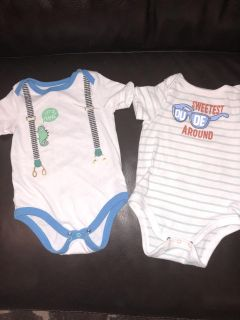 Cat and Jack 6-9 month onesies
