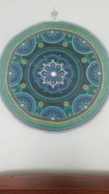 Mandala dot wall art