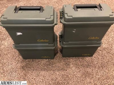 For Sale: 4 Cabelas Large Ammo Cans