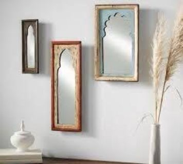 Euc never used Pottery barn Isabella set 3 mirrors. All heavy wood, paid $79.00 asking $40.00 PU near Fisher Park.