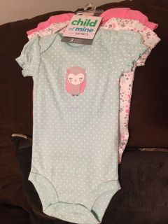 New with tags 0-3 month onesies