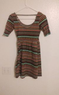 Woman's aztec style dress size med to large
