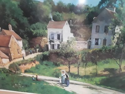 """Beautiful Print 33x42 by Camille Pissarro """"COUNTRY ROADS"""""""