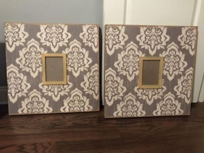 2 wood picture frames 24 x24 $30 Each