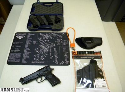 For Sale: Beretta 92-A1 9mm Full Size Hand Gun Like New Condition