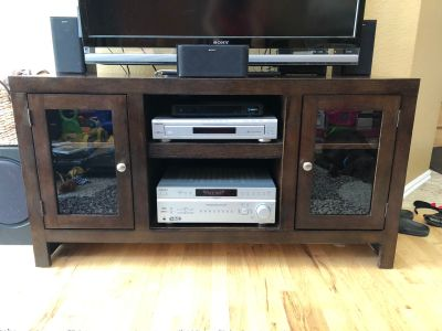 Espresso Wood Entertainment Center