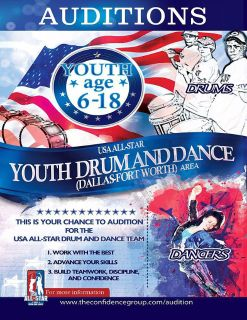 Drumline and Dance Team Open Auditions