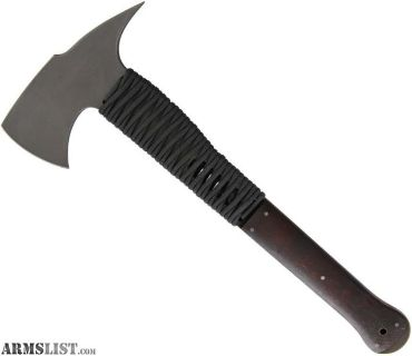 For Sale: Winkler Knives II Combat Axe Maple 80CRV2 high carbon steel Black paracord wrap 005