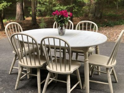 Refinished table and 6 chairs
