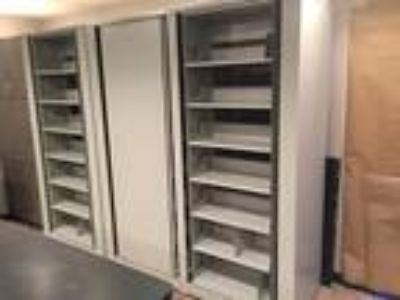 Office Filing Cabinets - Rotary Style. Selling 1 single and 1 double.